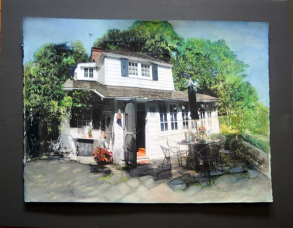 """Mayer House Portrait, mixed media/photographs, water color, pastel, color pencil   22""""X30"""""""