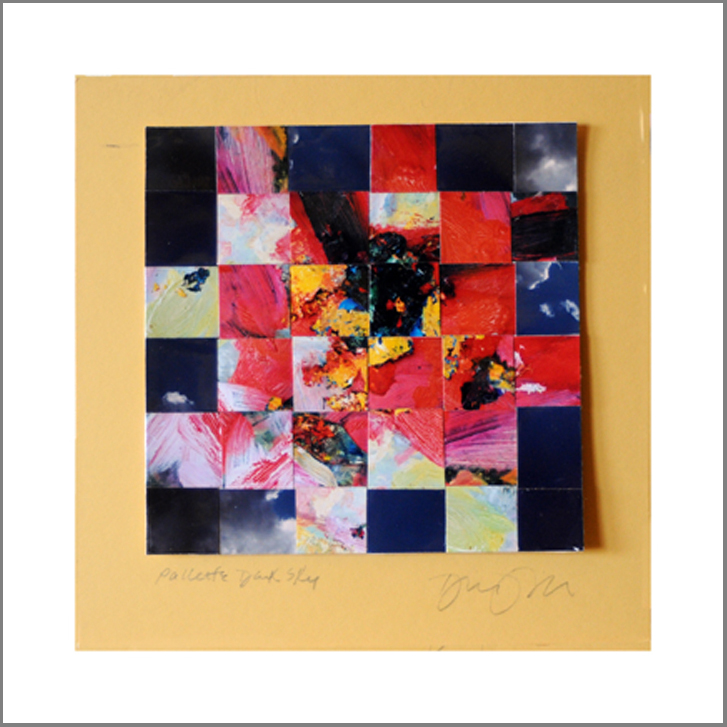 "Pallette Dark Sky, Woven Photos    6""X6"" (finished double mat size 10""X10"")"
