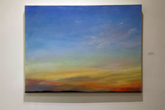 July 6 Cape Sunset    oil and charcoal on canvas      30x40