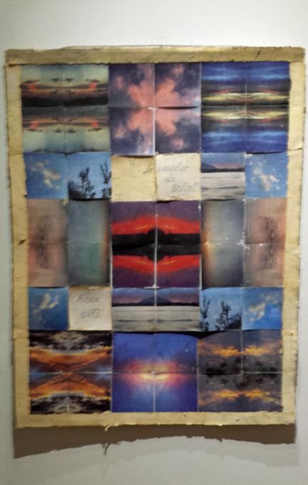 """Beau Ciel   image transfer paper quilt   33""""X44"""""""