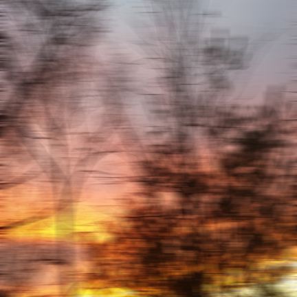 Sunset Blur,  Ltd Edition digital collage archival inkjet print on museum grade, 100% cotton rag paper