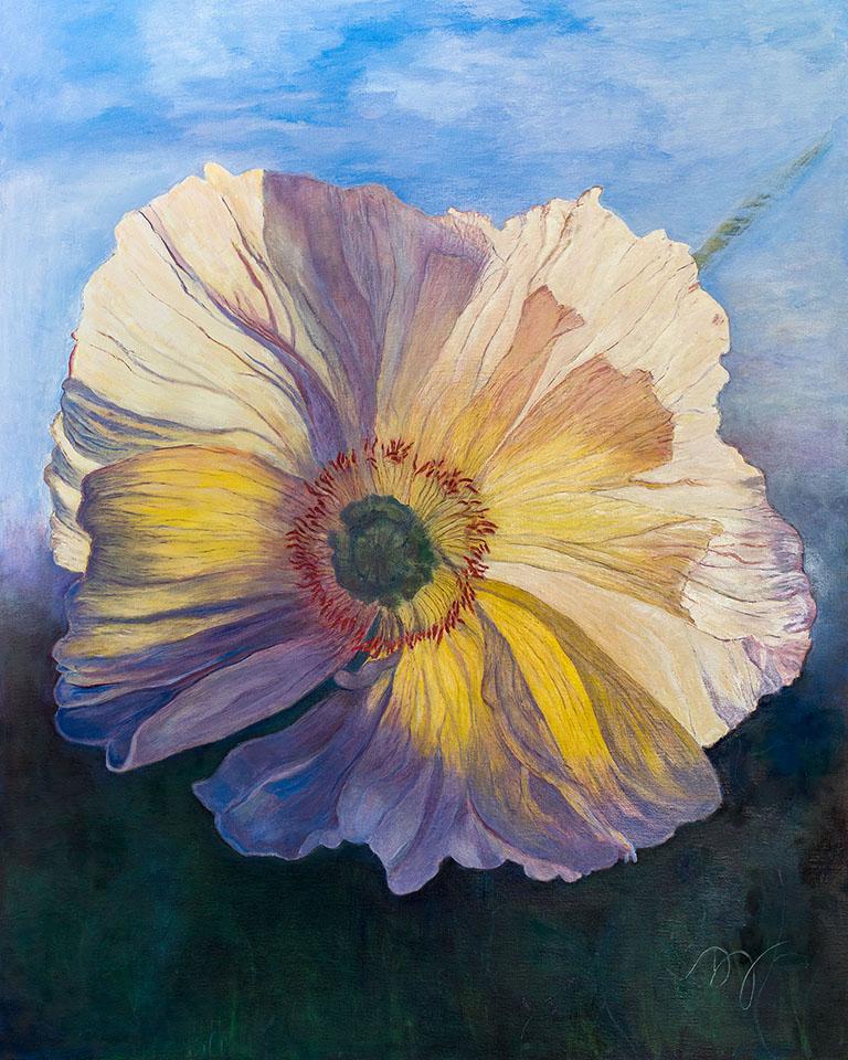 Poppy Painting, ltd edition archival inkjet print on museum grade, 100% cotton rag paper.