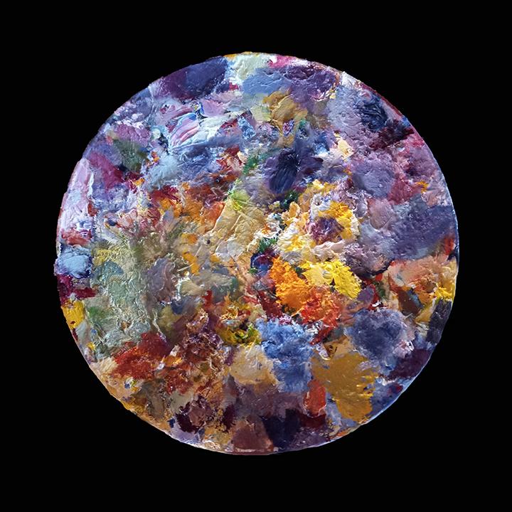 Oil Palette on Glass, ltd edition archival inkjet print